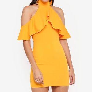 BNWT Missguided Cold Shoulder Mini Bodycon Dress